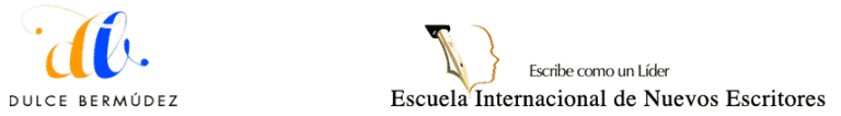 Logos conjuntos DulceBermudez.com y Escuela Internacional de Nuevos Escritores