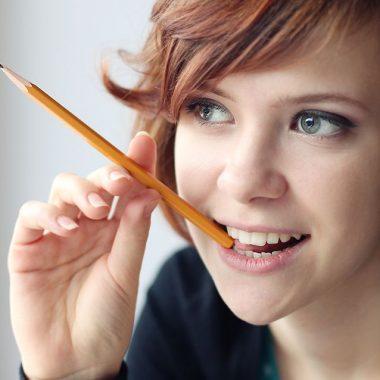 idea pencil girl