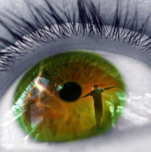 ojo con reflejo